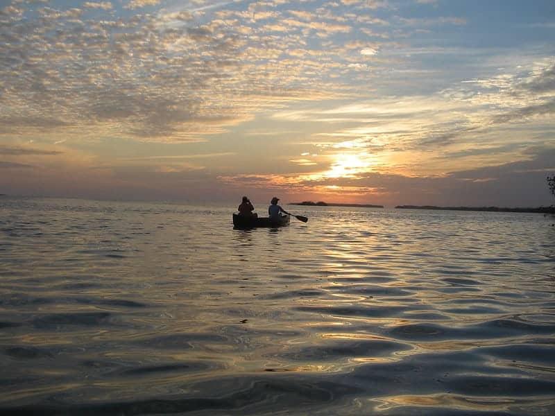 Canoe on the Everglades Wilderness Waterway.