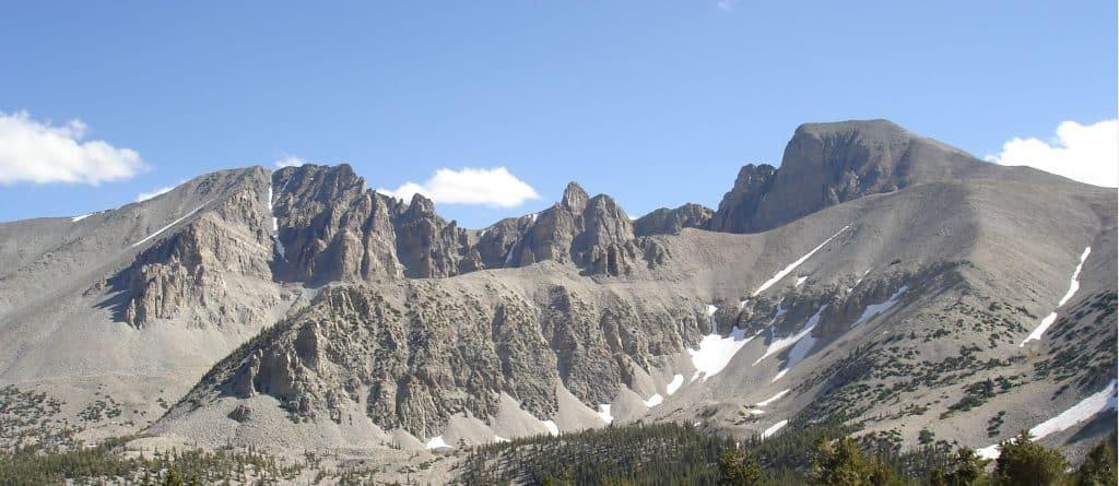 Wheeler peak in Great Basin National Park