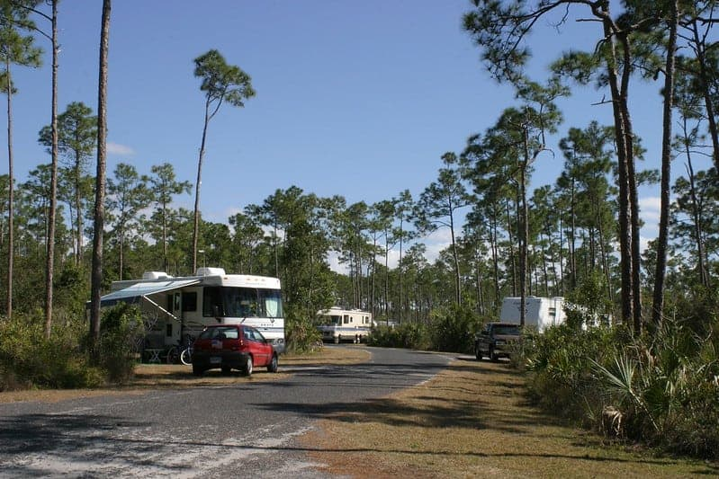 RVs in the Lone Pine Key Campground, Everglades National Park.