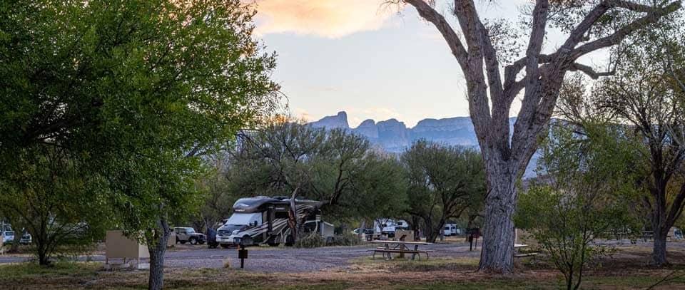 RVs in the Rio Grande Village Campground