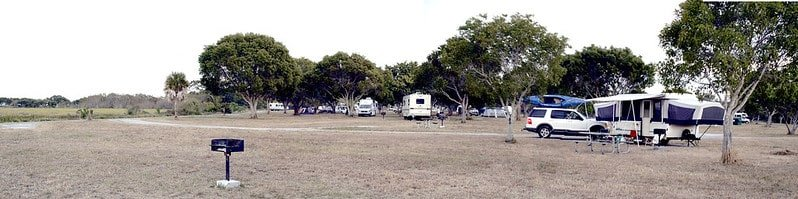 RVs parked at the Flamingo Campground in Everglades National Park