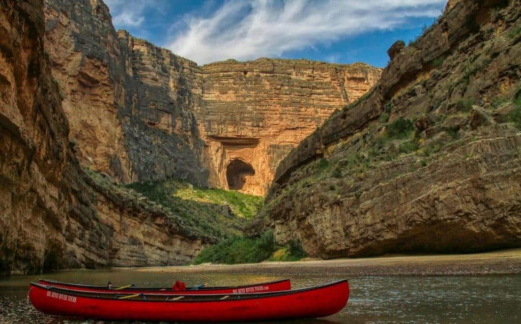 Canoes in Santa Elena Canyon