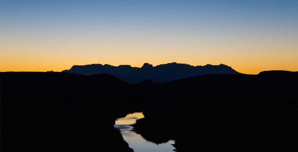 Sunset over the Rio Grande River