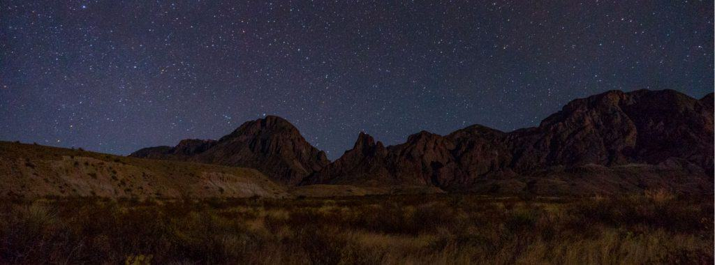 Starry sky while camping in Big Bend National Park.