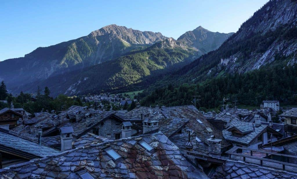Rooftops of Courmayeur, Italy