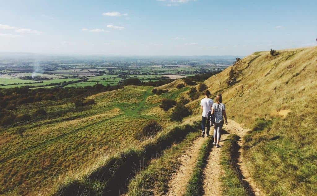 Hikers on the Cotswold Way