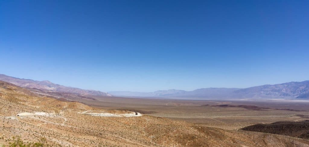 The Panamint Springs Valley in Death Valley National Park.