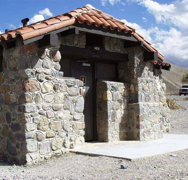 Historic restrooms at the Texas Springs Campground