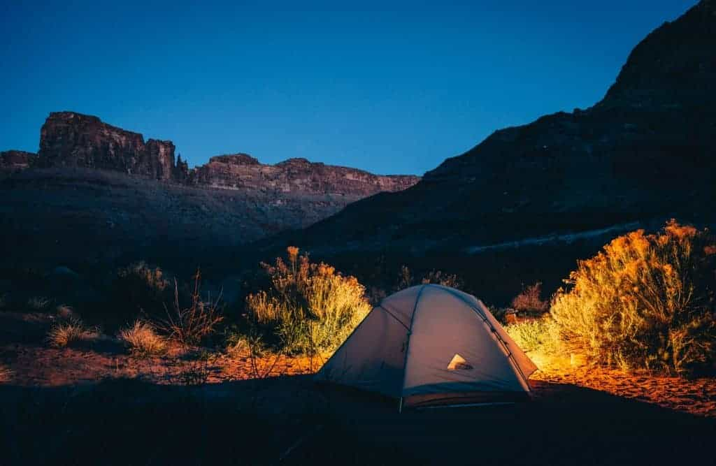 Tent in Capitol Reef National Park