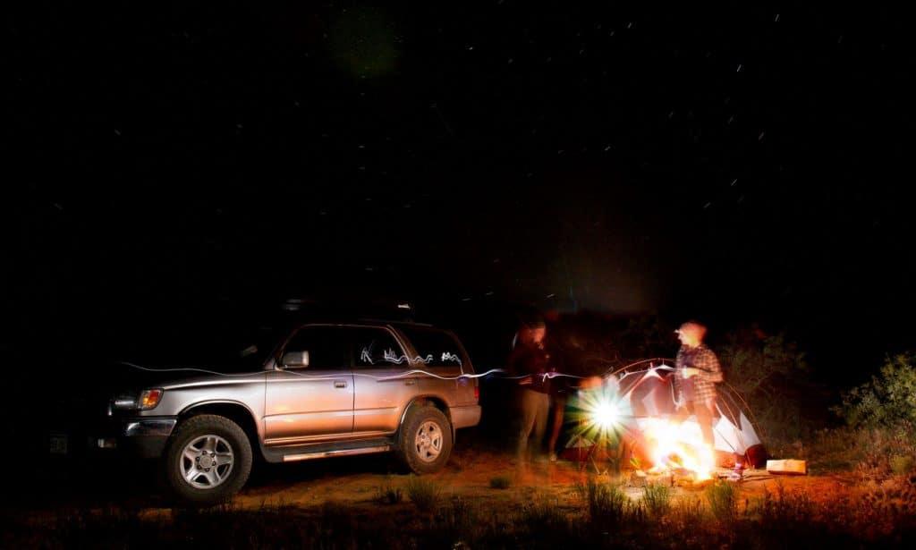 Car camping near Capitol Reef
