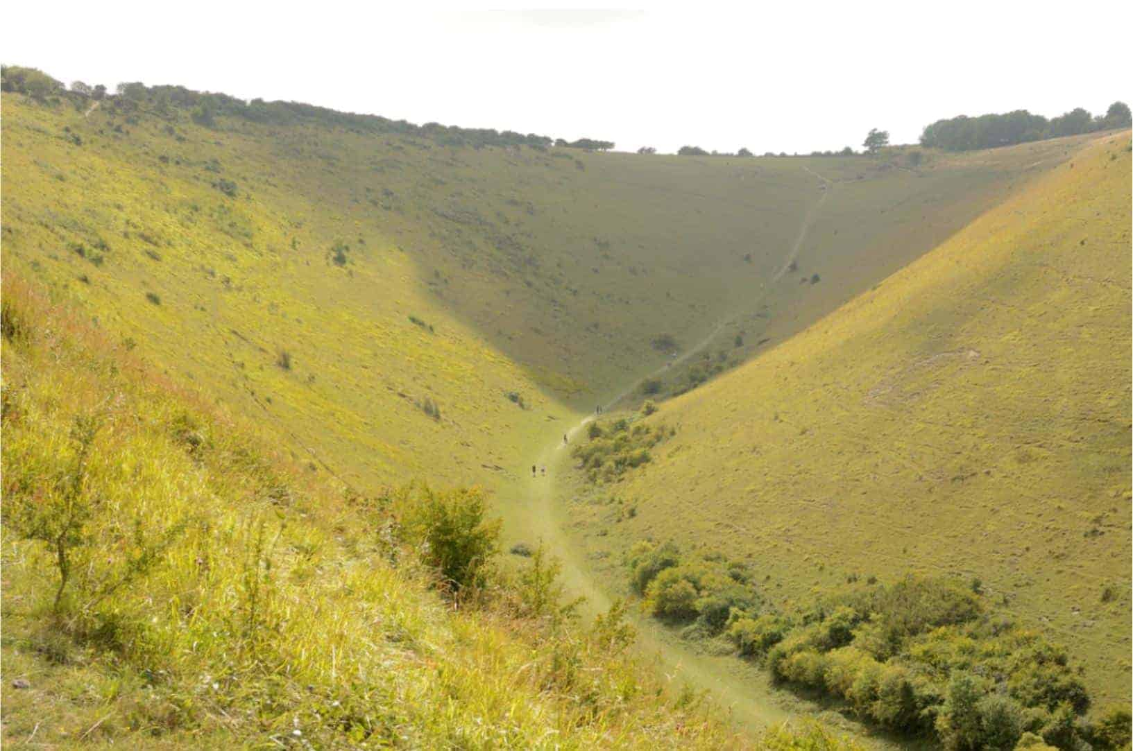 Looking down at the incredible Dyke Valley, South Downs Way