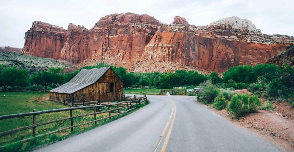 Barn in the Gifford Homestead in Capitol Reef National Park