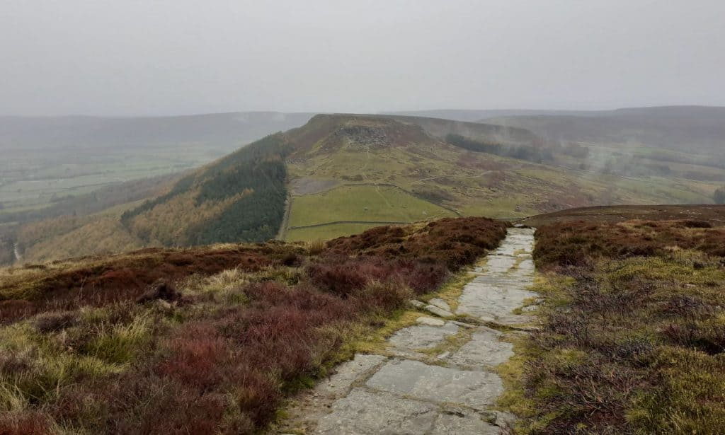 The Cleveland Way winds through the North York Moors National Park