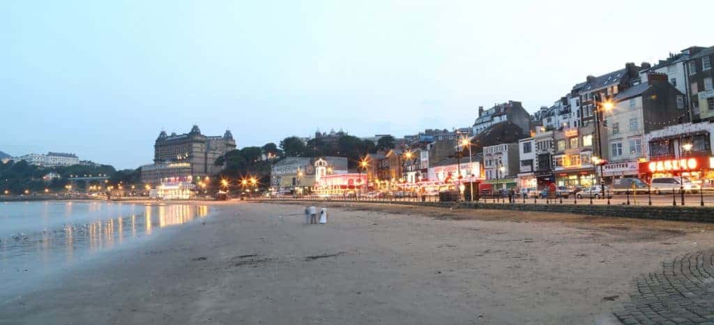 Beach in Scarborough, England.