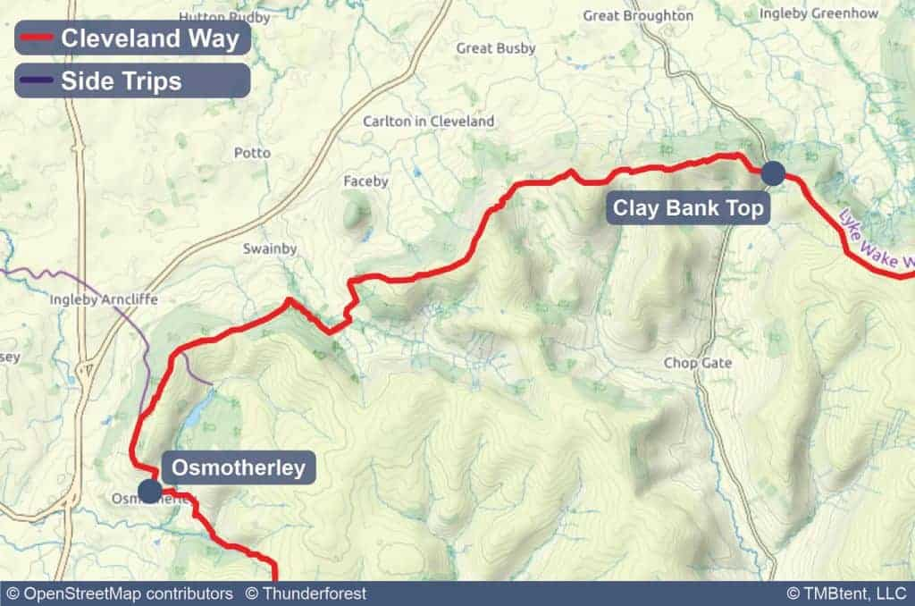 Map of Stage 3 of the Cleveland Way