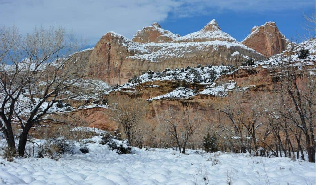 Winter in Capitol Reef national park