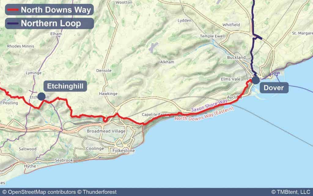North downs way stage 10 map