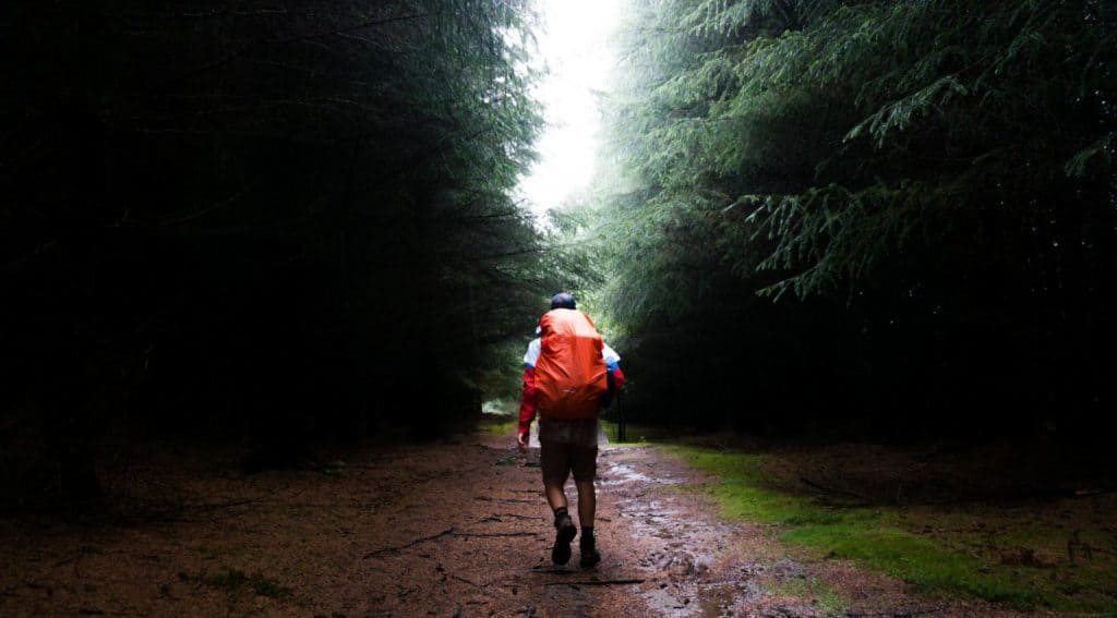 A hiker on the Great Glen Way