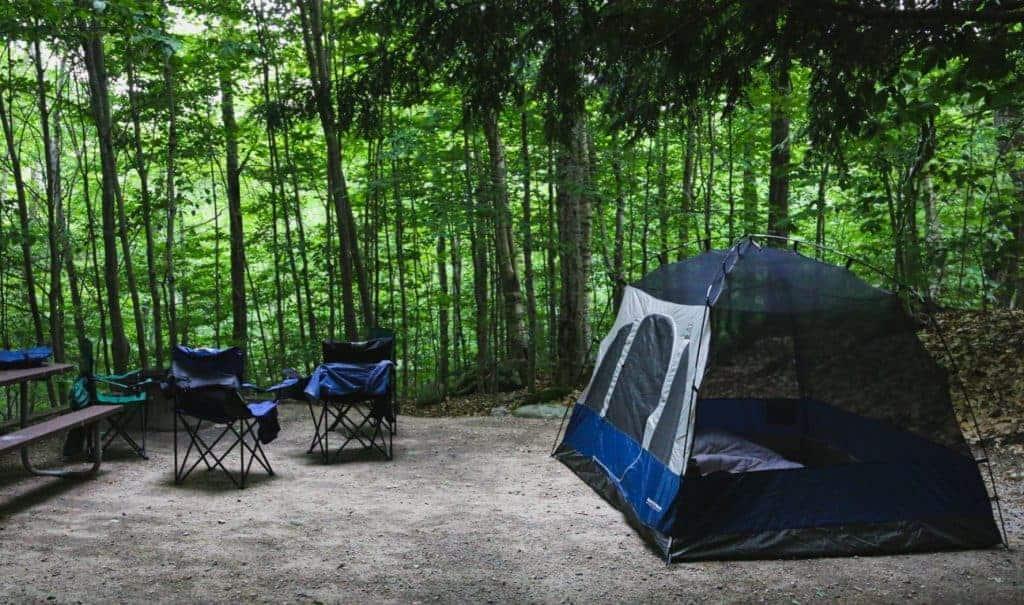 Campsite near Rocky Mountain National Park