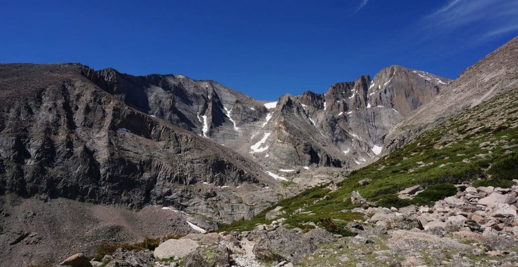 Chasm Lake hike from Longs Peak Campground