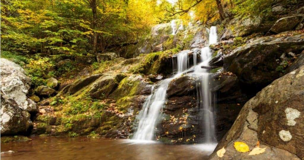 Dark Hollow Falls in Autumn.