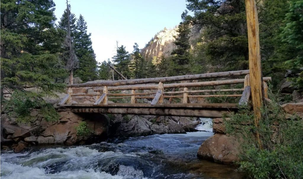 Bridge over a creek in RMNP