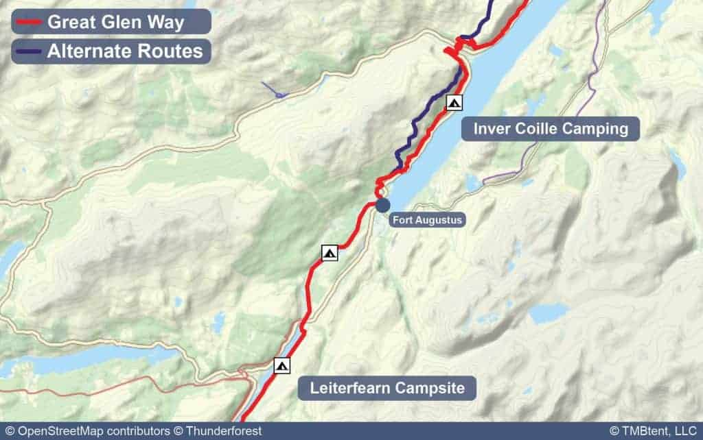 Map of Stage 4 from Leiterfearn to Inver Coille