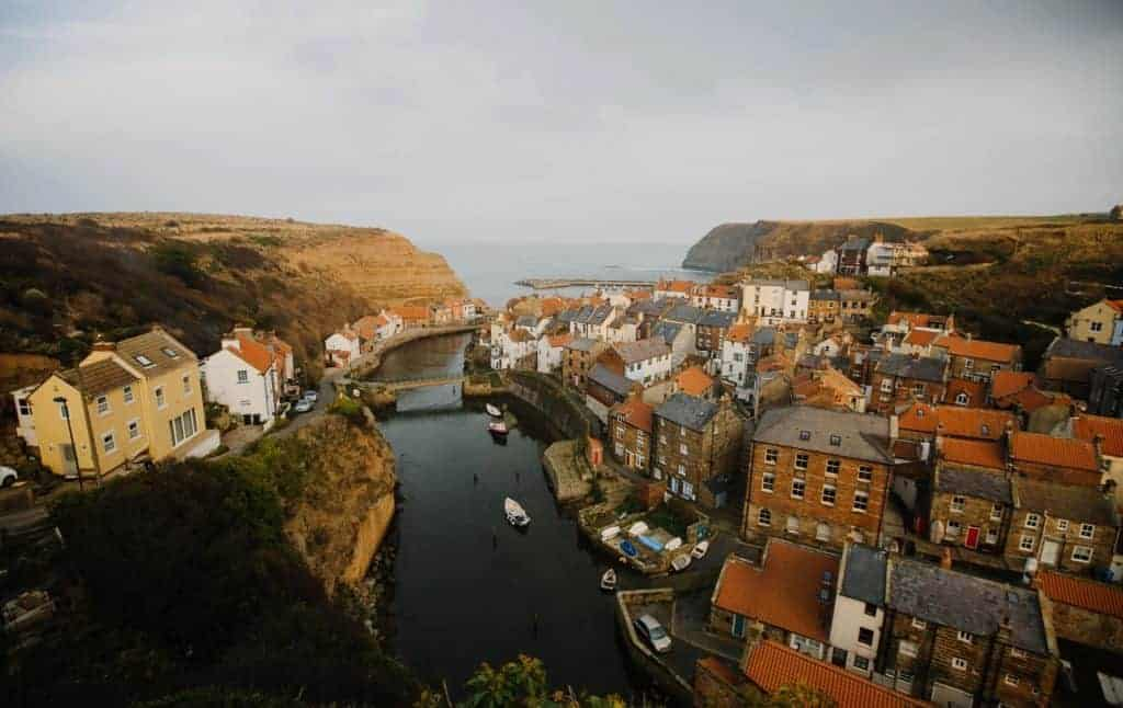 View of Staithes from the Cleveland Way