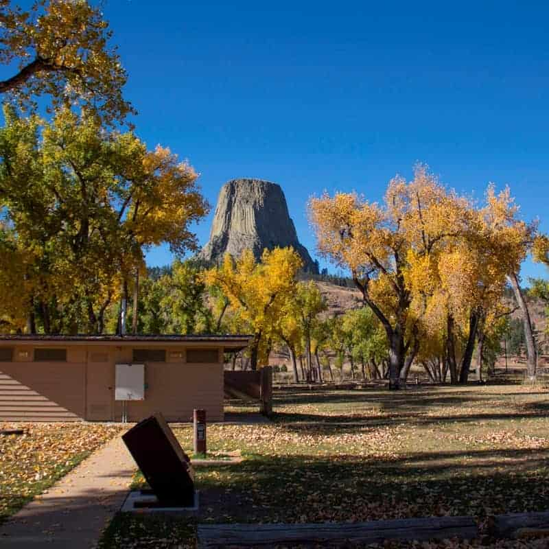 Belle Fourche River Campground in Devils Tower.