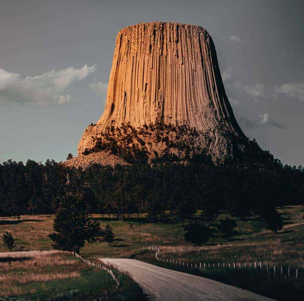 Devils Tower from a nearby road