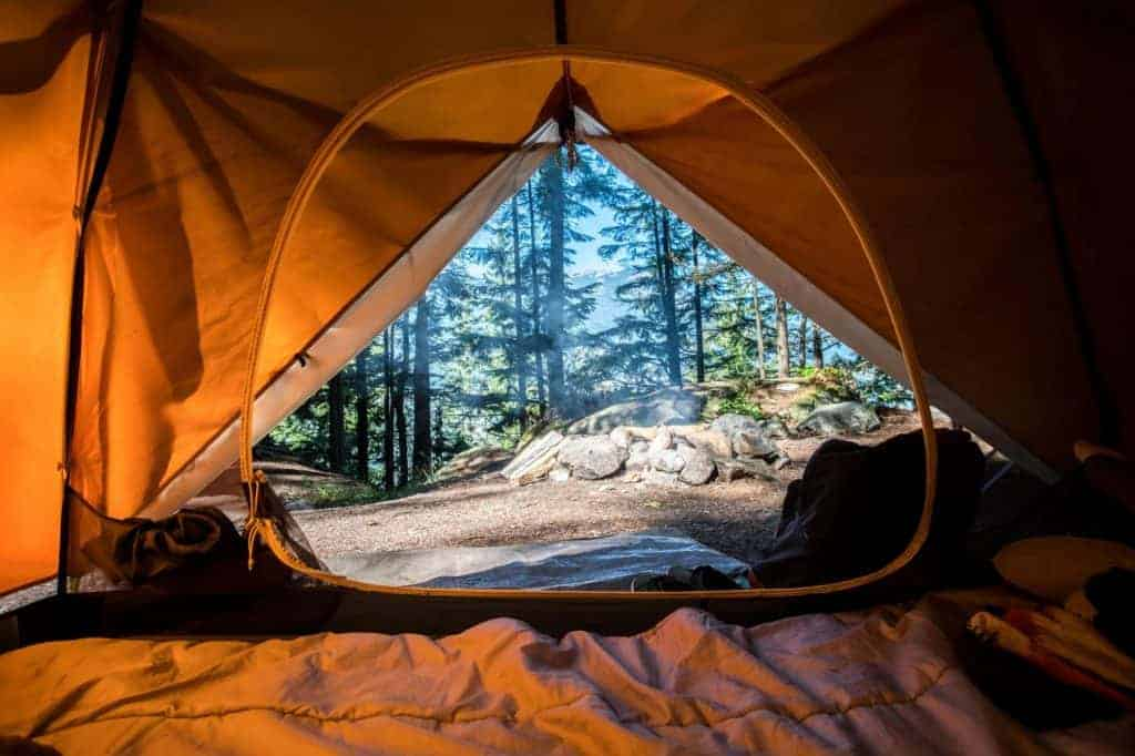A tent near Devils Tower
