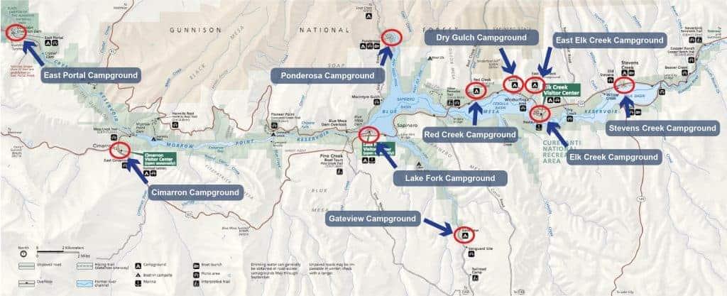 Blue Mesa Reservoir Campground Map