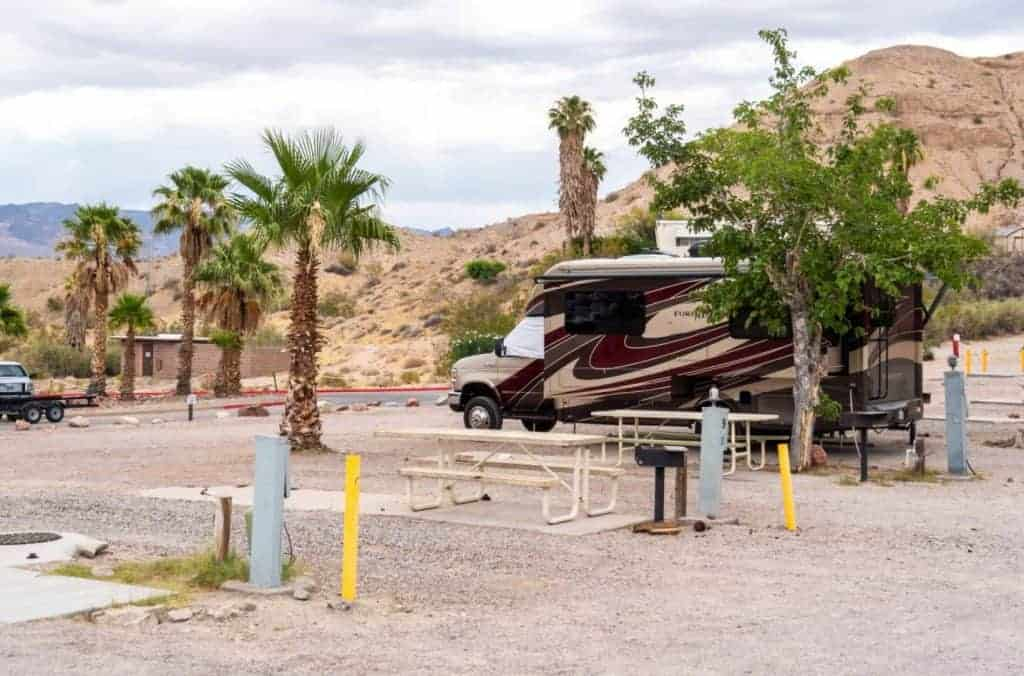Cottonwood Cove RV Park Lake Mohave Camping