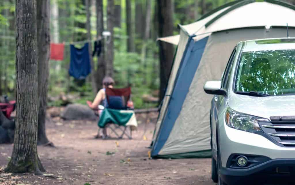 Car camping near Mt. Rushmore