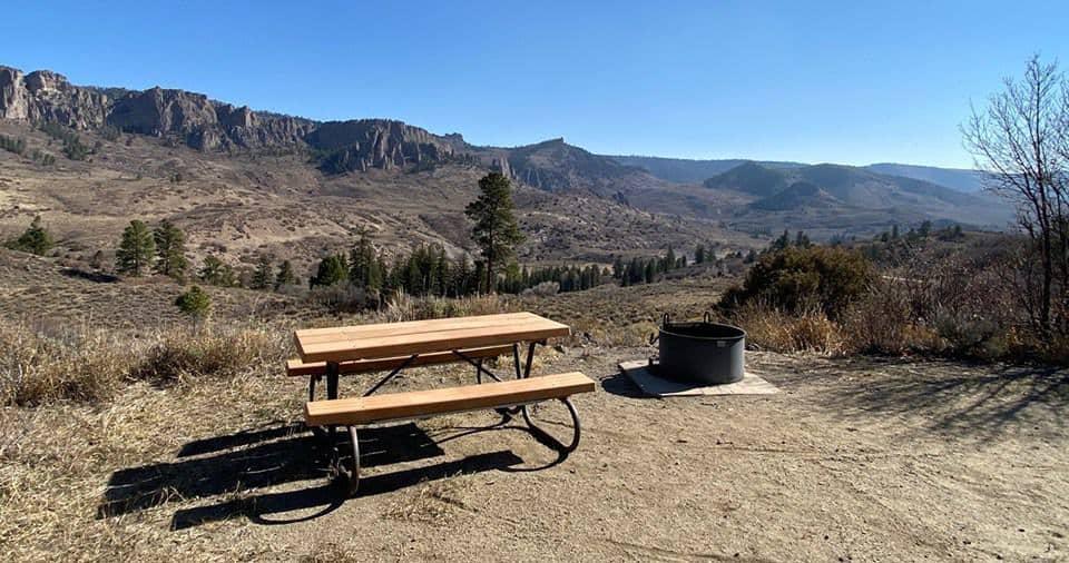 Campsite at the Ponderosa Campground