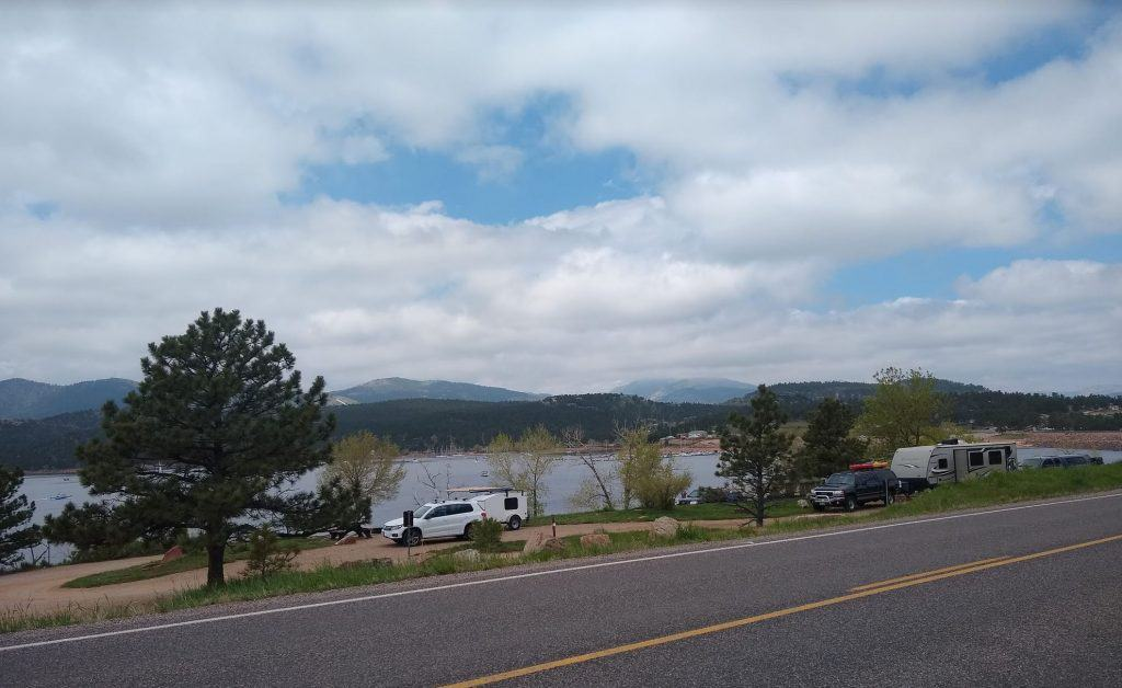 A view of the Big Thompson Campground from across the road