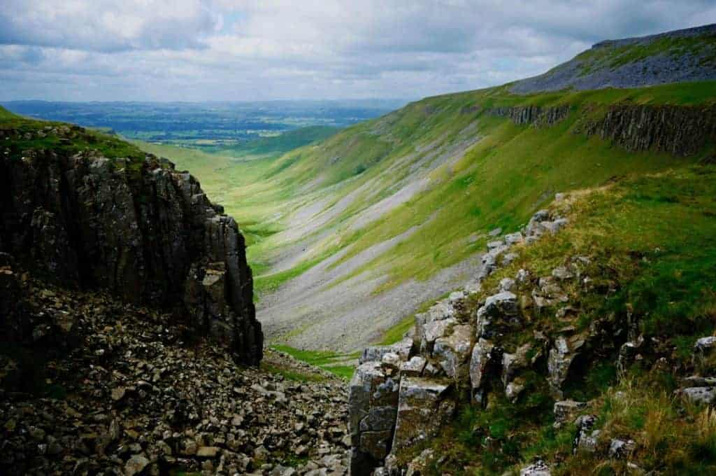 View of High Cup Nick on the Pennine Way