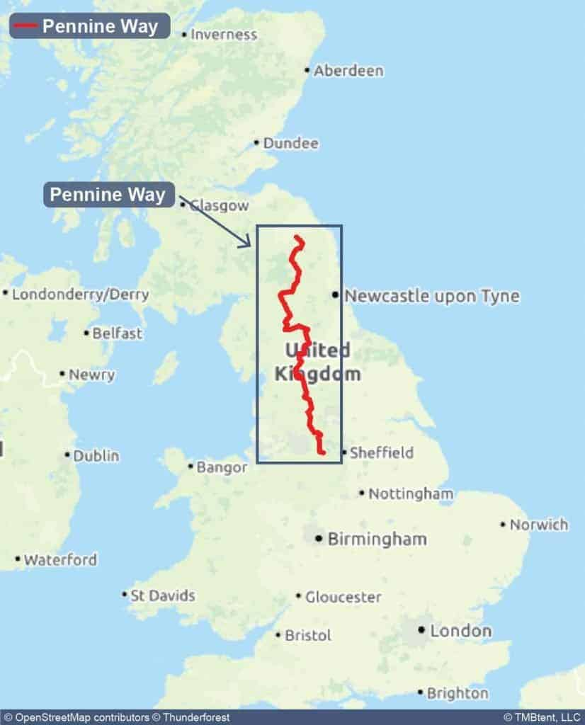 Pennine Way Overview Map