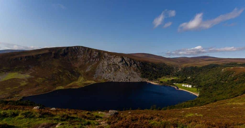 Lough Tay on the Wicklow Way