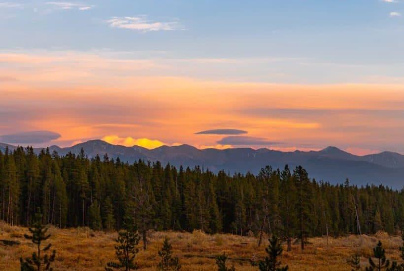 Sunset views from Cottonwood Pass