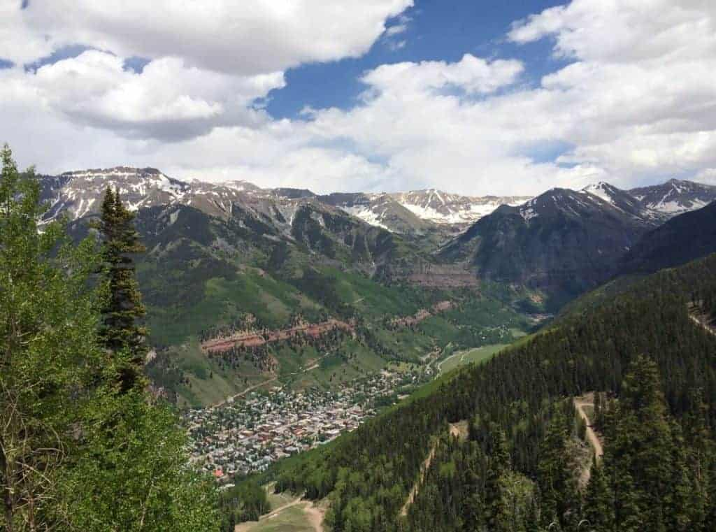 Overhead view of the Telluride Valley