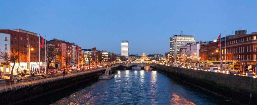 River Liffey flows through Dublin