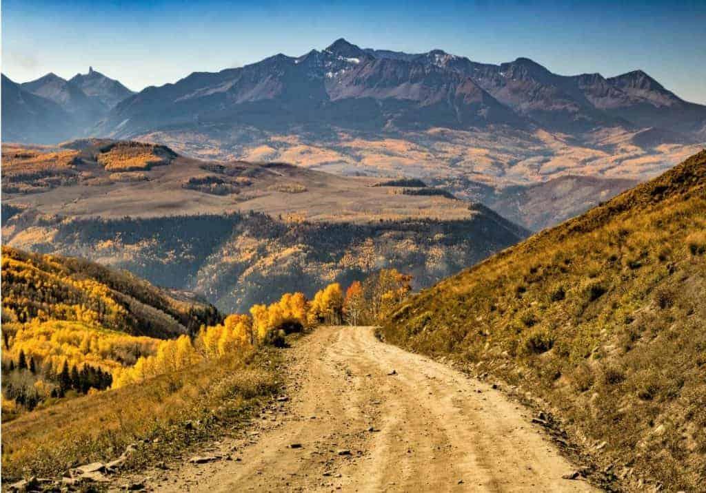 Last Dollar Road, Telluride dispersed camping
