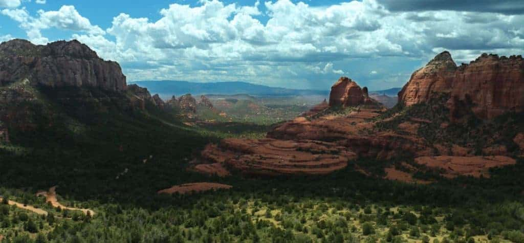 View from Schnebly Hill dispersed camping area near Sedona