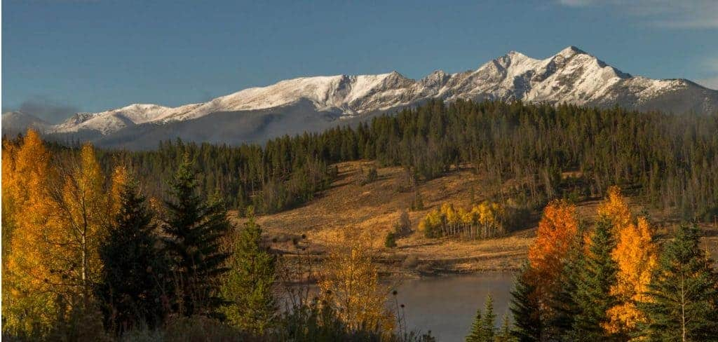 View of mountains from near Breckenridge, CO