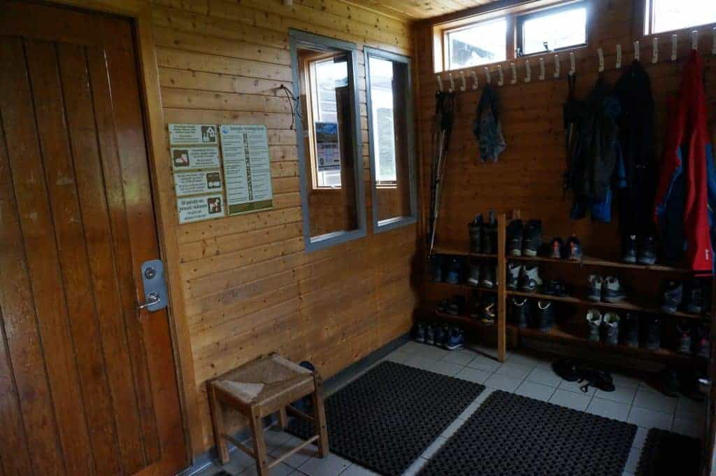 The entryway at a hut along the Laugavegur Trail