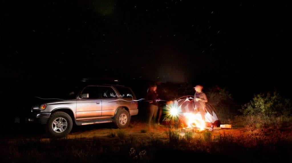 Dispersed campsite near lake city colorado