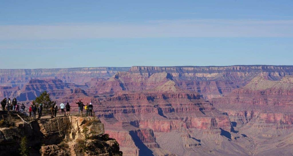 Mather Point overlook in Grand Canyon National Park