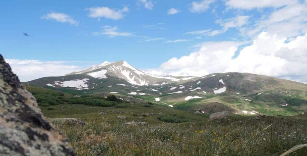 View from a dispersed campsite along Guanella Pass
