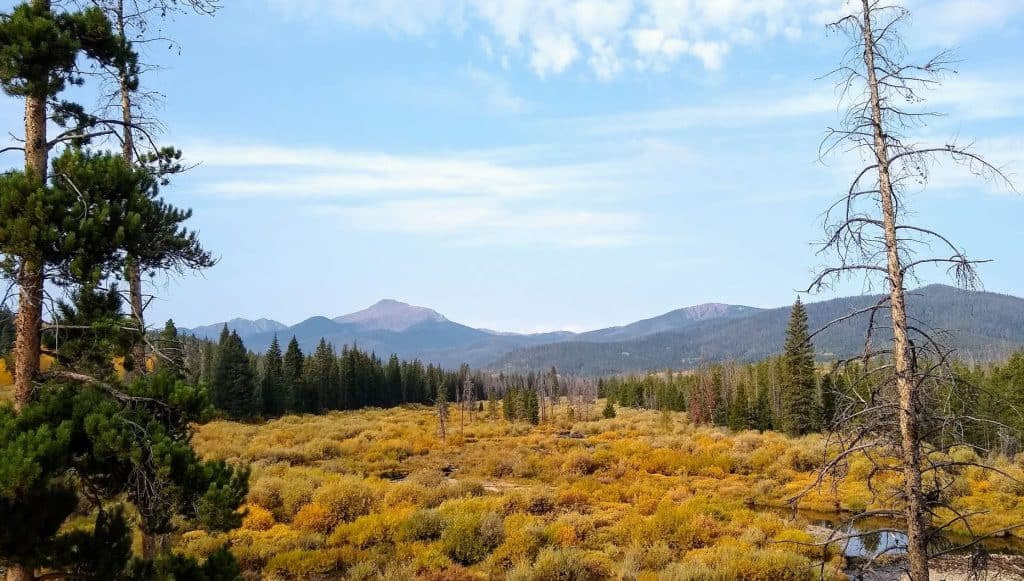 Dispersed camping near Winter Park